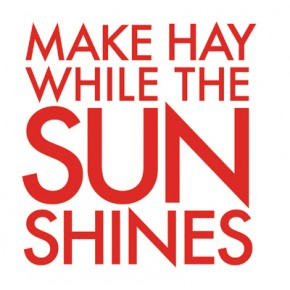 make hay while the sun shines speech